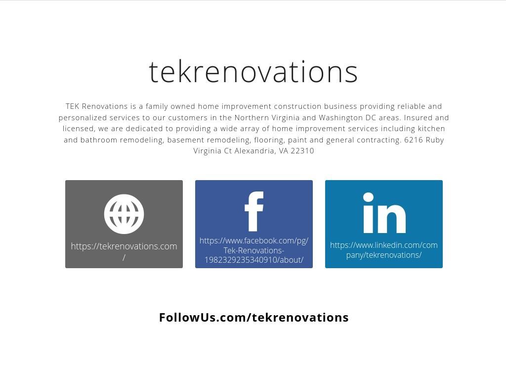 tekrenovations - Social Media